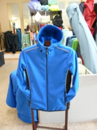 A sample of a Discovery Trekking Outfitters softshell jacket made from Polartec NeoShell High Loft